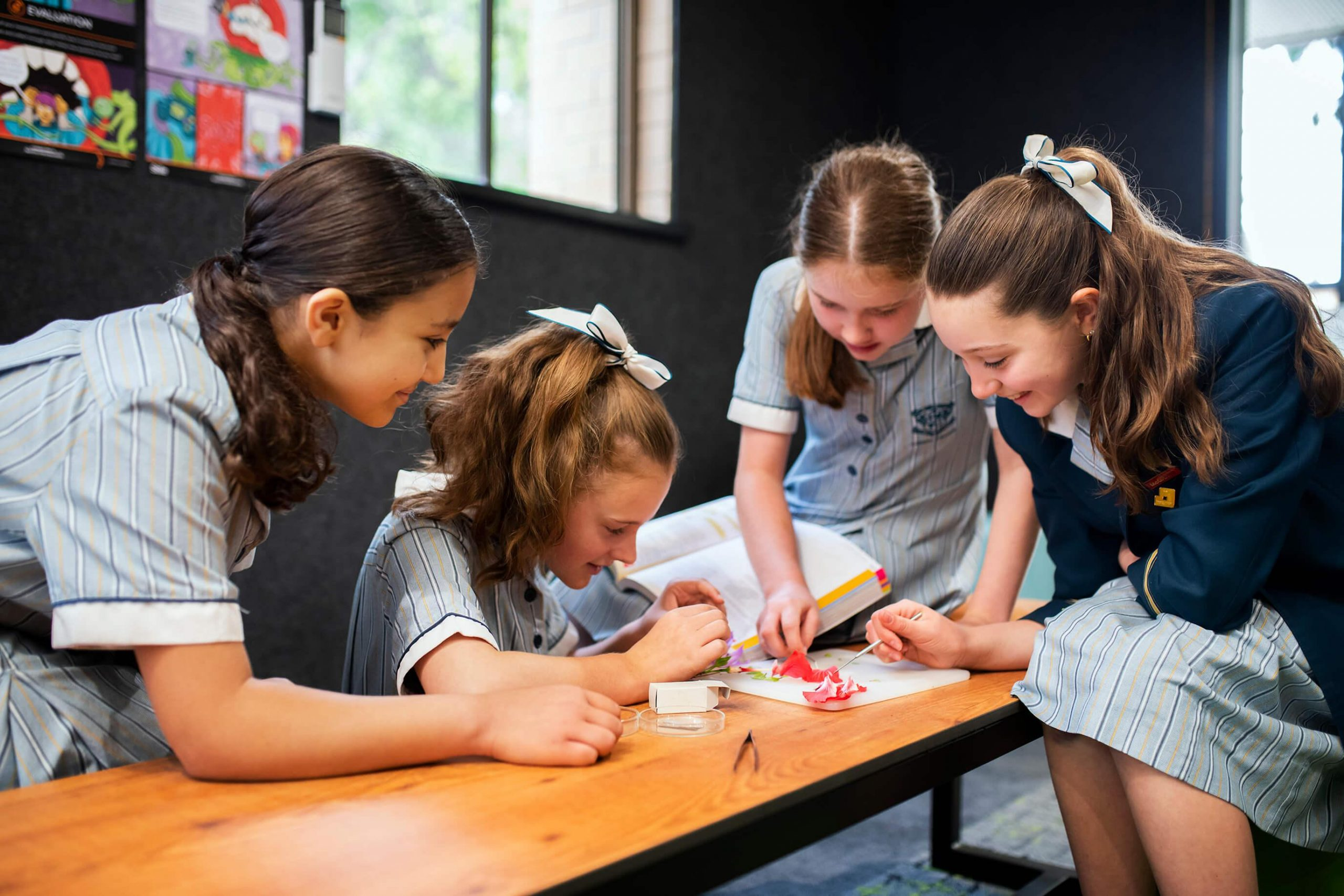 Loreto student actively learning in classroom environment